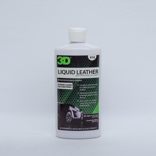 Imagen 1 de 3 de 3d Liquid Leather  Acondicionador De Cueros