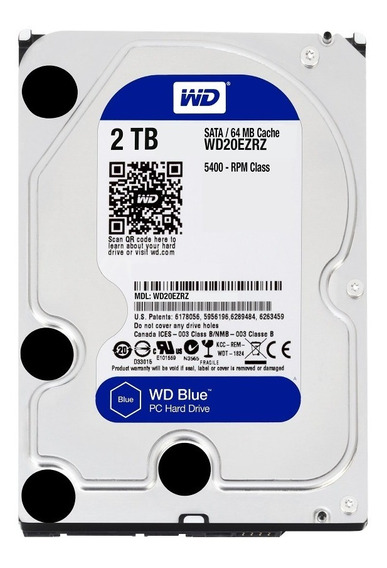 Disco Rigido 2tb Wd Sata 3 Blue