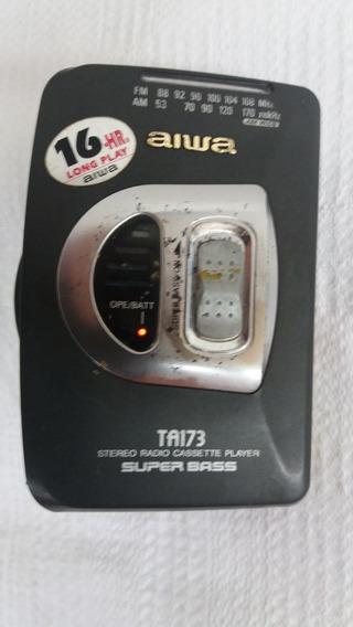 Walkman Rádio Toca Fica Aiwa Ta173 Analógico Cod 2231