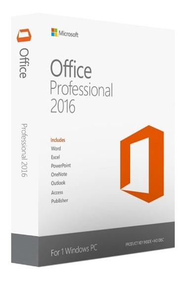 Microsoft Office Professional 2016 Fpp Retail Perpetua