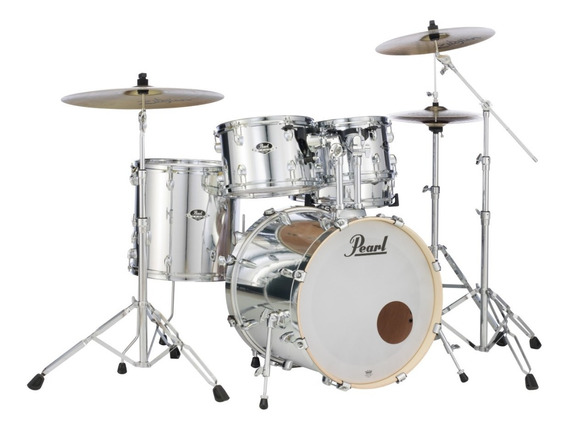 Bateria Pearl Export Exx Series Exx705np/c49 Mirror Chrome Shell Pack