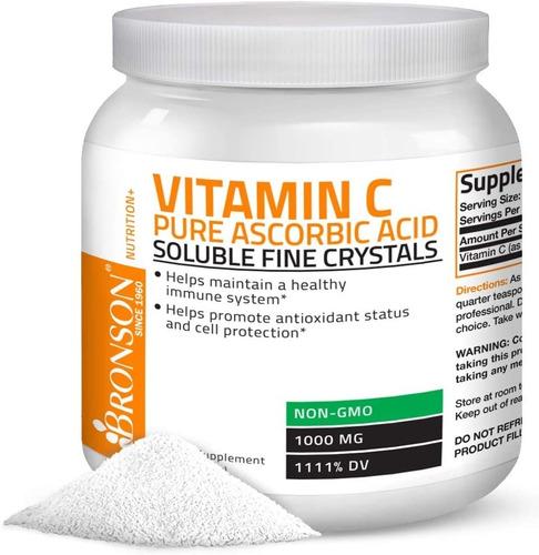Bronson Vitamina C En Polvo Antioxidantes Sist Inmunologico