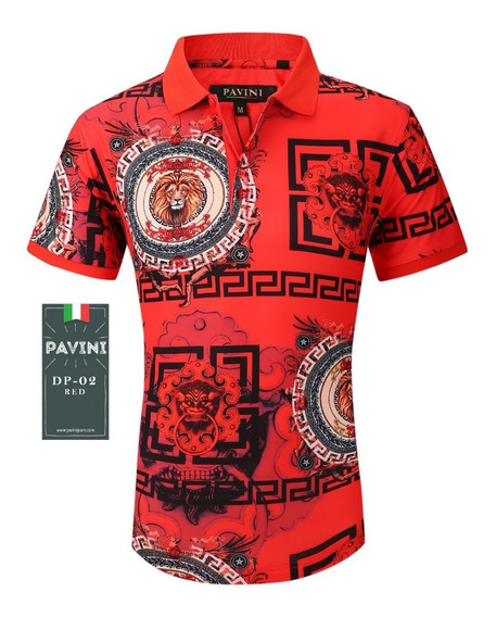 Playera Caballero Polo Marca Pavini Original Dp02 Roja Red