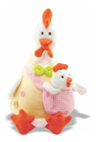 Pelúcia Galinha Com Filhote - Galinha E Filhote - Soft Toys