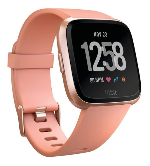 Fitbit Versa Smart Watch, Peach/rose Gold Aluminium, One Siz