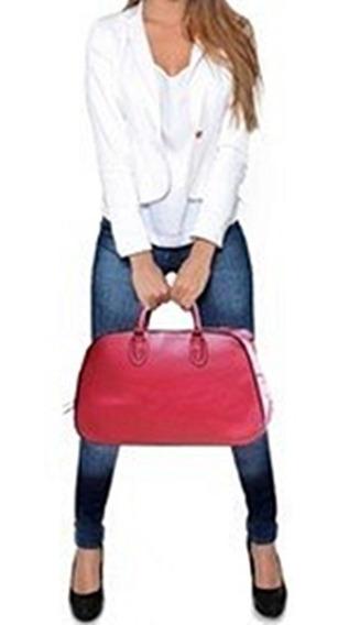Bolsa Malinha Mão Franqueira Necessaire Lisa Vermelha Bordo