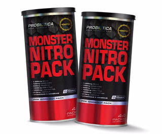 2x Monster Nitro 44 Packs No2 - Probiótica - Multivitaminico