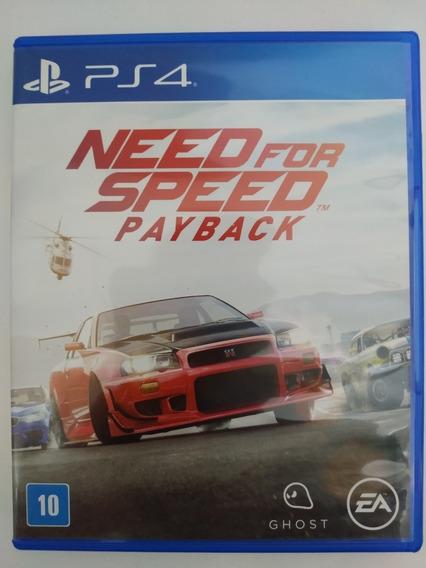 Need For Speed Payback Ps4 Mídia Física Original Playstation