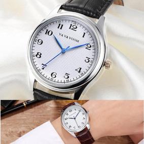 Relógio Luxo Masculino Vava Voom Pulso Social Pulseira Couro