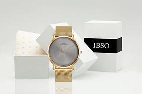 5a60afca114e Reloj Ibso Ultrafino Gold Space Hombre Moda Masculina 2019
