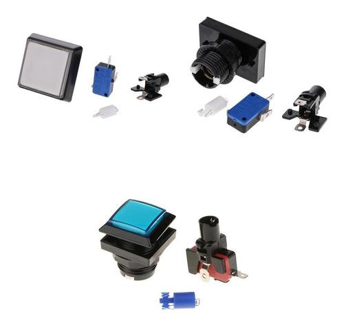 Imagen 1 de 12 de Botón De Juego De Máquina De Arcade De 3 Piezas Con