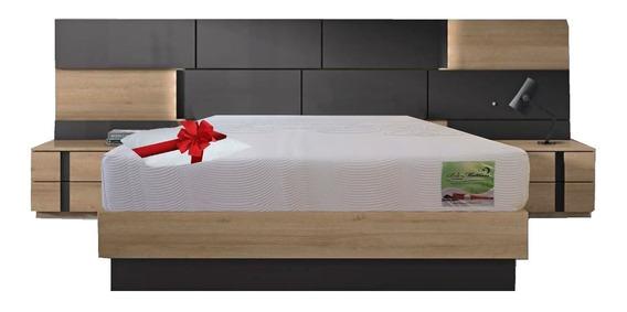Colchon Memory Foam Matrimonial En Caja Royale + Almohada