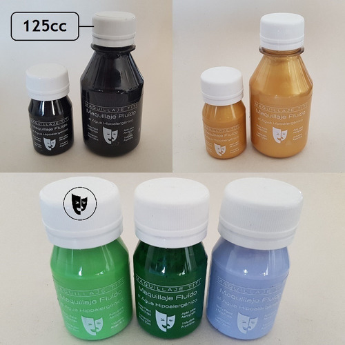 Imagen 1 de 1 de Body Paint Al Agua Maquillaje Titi 125cc - Verde Claro