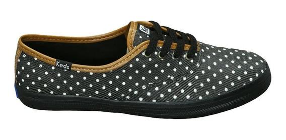 Tênis Keds Champion Dots Jeans Bolinhas Kd1195001