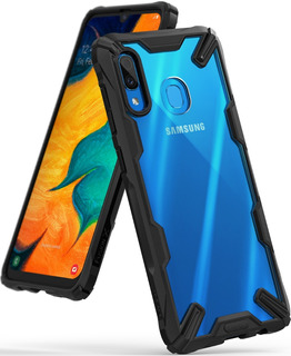 Funda Galaxy A20 A30 A50 2019 Ringke Fusion X +templado Prem