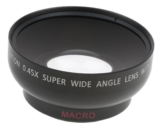 Lente Macro Grande Ângulo 0.45x 43mm Para Sony Cânone Niko