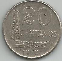 Moeda Antiga,20 Centavos 1970