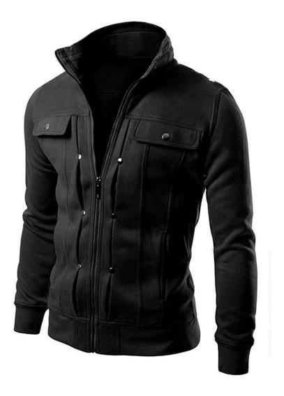 Blusa Moletom Slim B39 Jaqueta Casaco Moleton Masculino