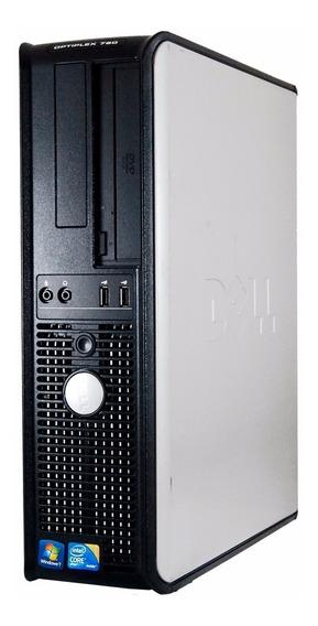 Computador Desktop Usado Dell Core 2 Duo + Garantia E Brinde