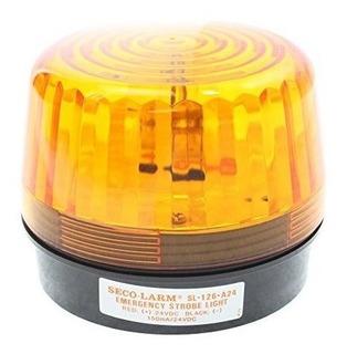 Luz De Emergencia Ambar Seco-larm Sl-126-a24 Para Senalizaci