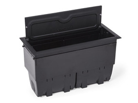 Kit 04 Caixa De Mesa Tomada Blocos Alumínio Open Box Preta