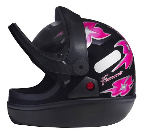 Capacete para moto integral San Marino Femme preto tamanho 56