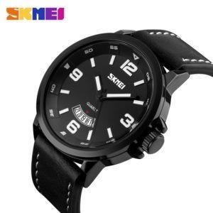 Reloj Analogico Skmei Calendario Cuero Legitimo Wr 50m 9115