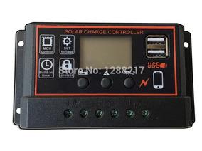 Controlador Carga Painel Solar 20a 12/24v Preto/laranja