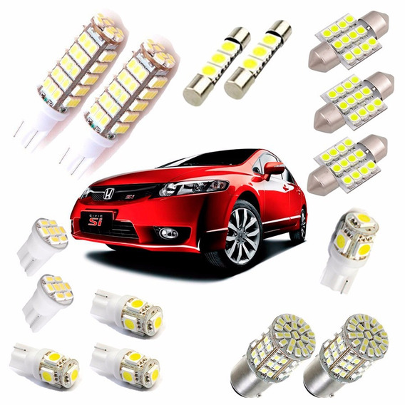 Kit Lâmpada Led New Civic 2006 2007 2008 2009 2010 2011 Bran