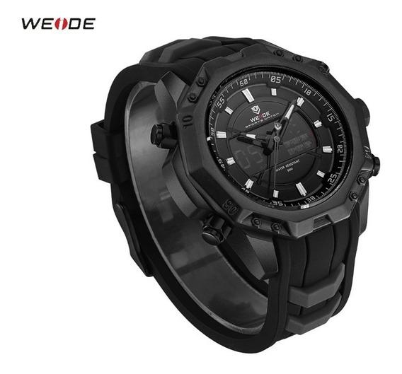 Relógio Masculino Aço Inoxidável Weide Militar Elegante Novo
