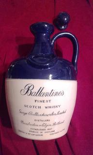 Antiguo Porron Botella De Whisky Ballantines