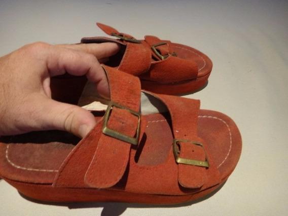 Sandalias De Mujer Color Roja Usada Talle 35,5 (quilmes)