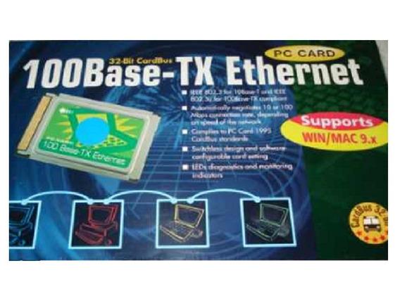 100base - Tx Ethernet Pc Card 32 Bit Lacrado Na Caixa