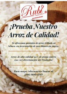 Arroz Por Quintal A Precio Favorable