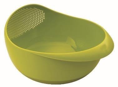 Escorredor De Alimentos E Tigela Prana 20cm - Verde -