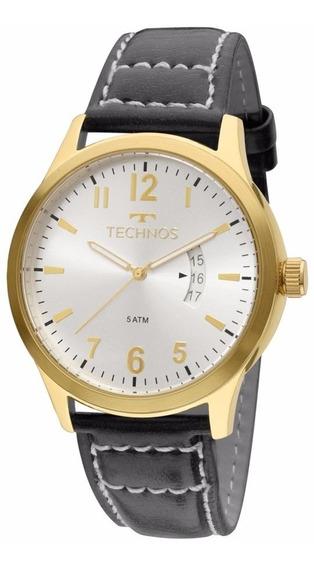 Relógio Technos Masculino Classic 2115ktq/2k Dourado Couro