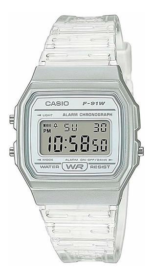 Relógio Casio Feminino Digital Vintage F-91ws-7df