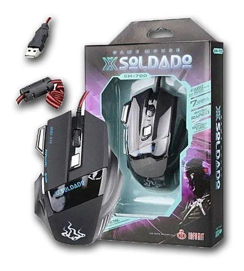 Mouse Gamer X-soldado Gm-700 3000dpi