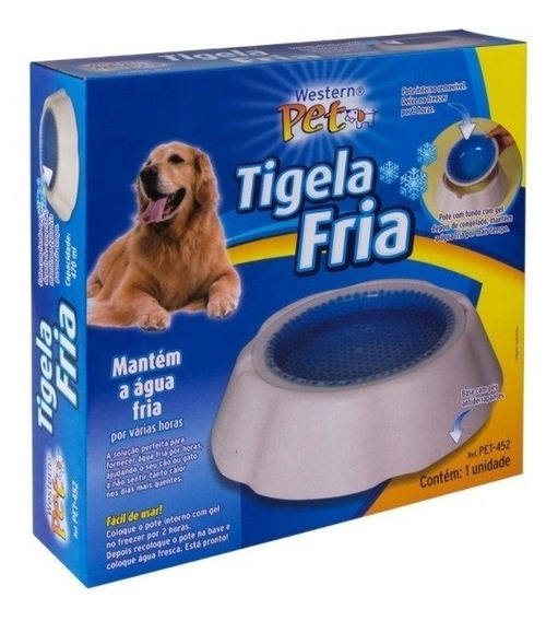 Tigela Água Fria Gelada P/ Caes Gatos Vasilha Bebedouro Pet