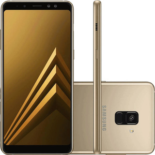 Samsung Galaxy A8 2018 A530f 64/4gb 16mp Dourado Mancha Tela