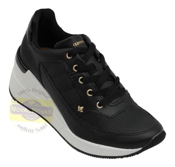 Tênis Feminino Sneaker Cravo Canela Preto 100%original + N F