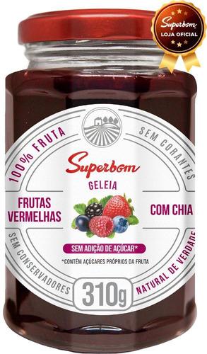 Geleia De Frutas Vermelhas Com Chia 310g - Superbom.