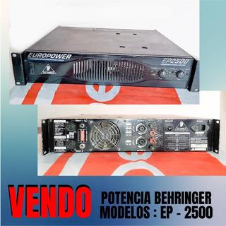 Potencia Behringer Ep2500