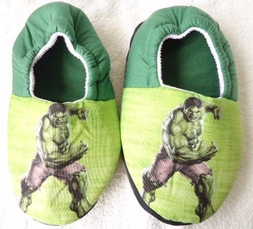 Pantufa Hulk Super Heroi Chinelo De Quarto Artesanal