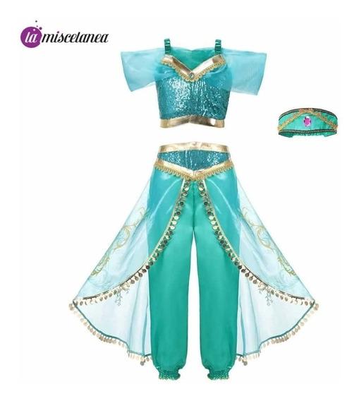Disfraz De Princesa Jasmine Para Niña - Para Estrenar