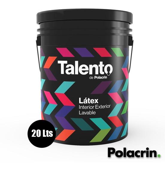 Pintura Talento Polacrin 20lts Latex Alto Rendimiento