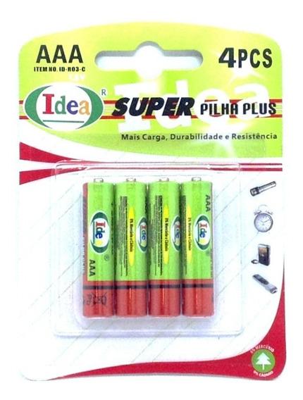 Super Pilha Palito Plus Aaa Idea 1.5 V Original 4 Unidades