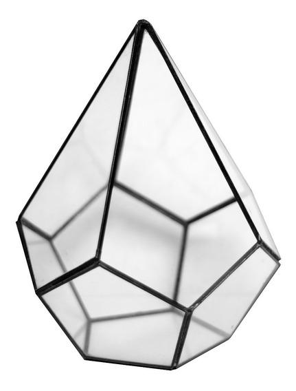 Terrario Maceta De Vidrio - Piuke Diamante Grande
