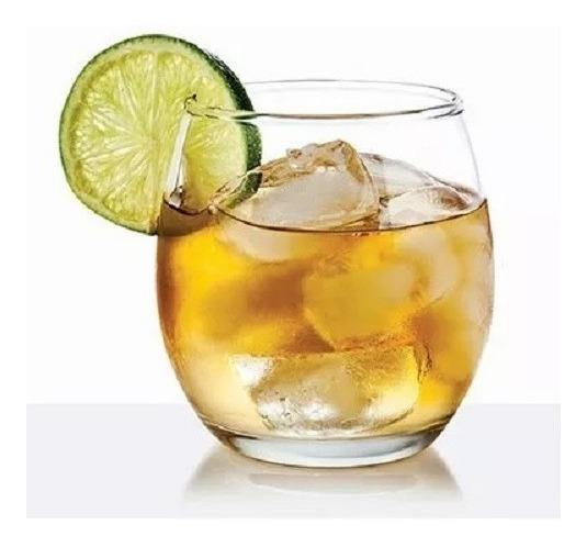 Vaso X6 Mikonos Whisky 343c Sin Pie Copa Vidrio Tragos Vino