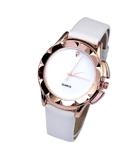 Reloj Casual Simple De Cuarzo Para Mujeres Niñas Blanco